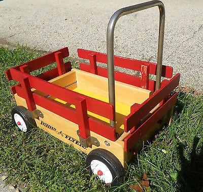 Vintage Radio Flyer Toddler Walker Wood Wagon Removable Sides 1628169956 Wood Wagon Vintage Radio Radio Flyer