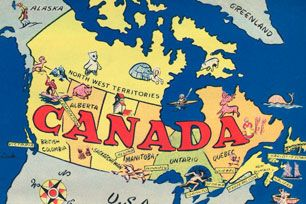 Canada Map Animation CCT0073   Animated Map of Canada. | Canadian culture, Postcard