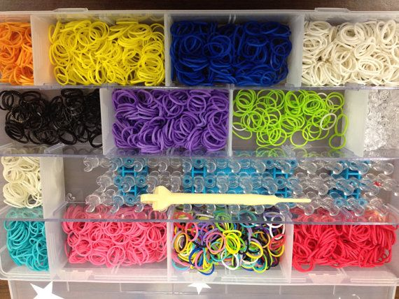 Personalized Rainbow Loom Case Organizer Craft Ideas