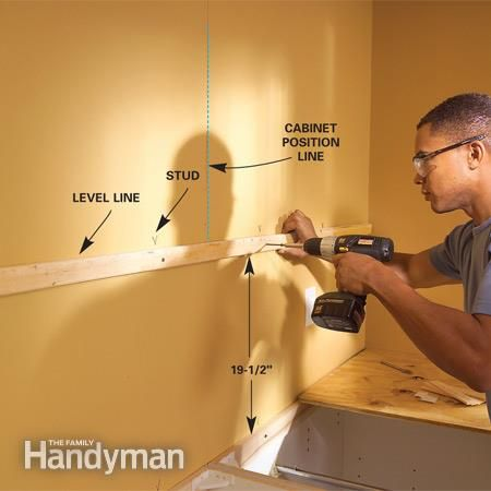 How to Install Kitchen Cabinets | Installing kitchen cabinets ...