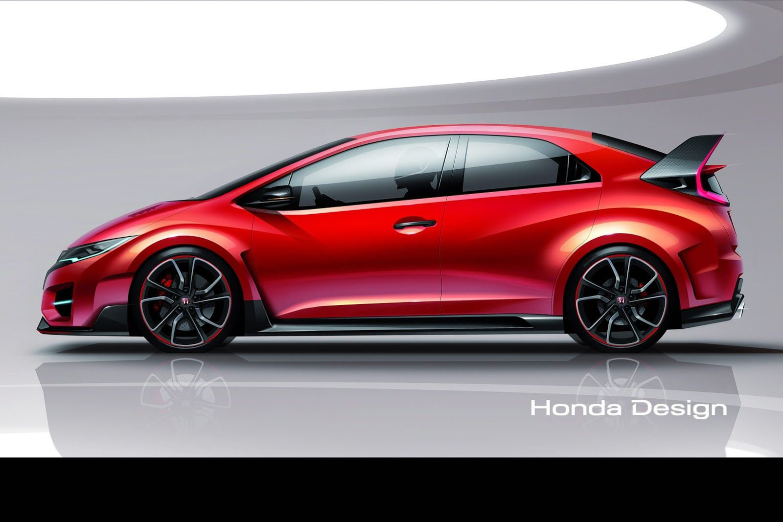 Honda Civic Type R Sketch | Sketch | Pinterest | Honda Civic And Car Sketch