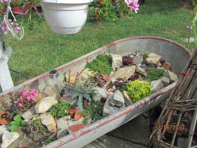 Steingarten in der Zinkwanne - Bilder und Fotos Garten - moderne steingarten bilder