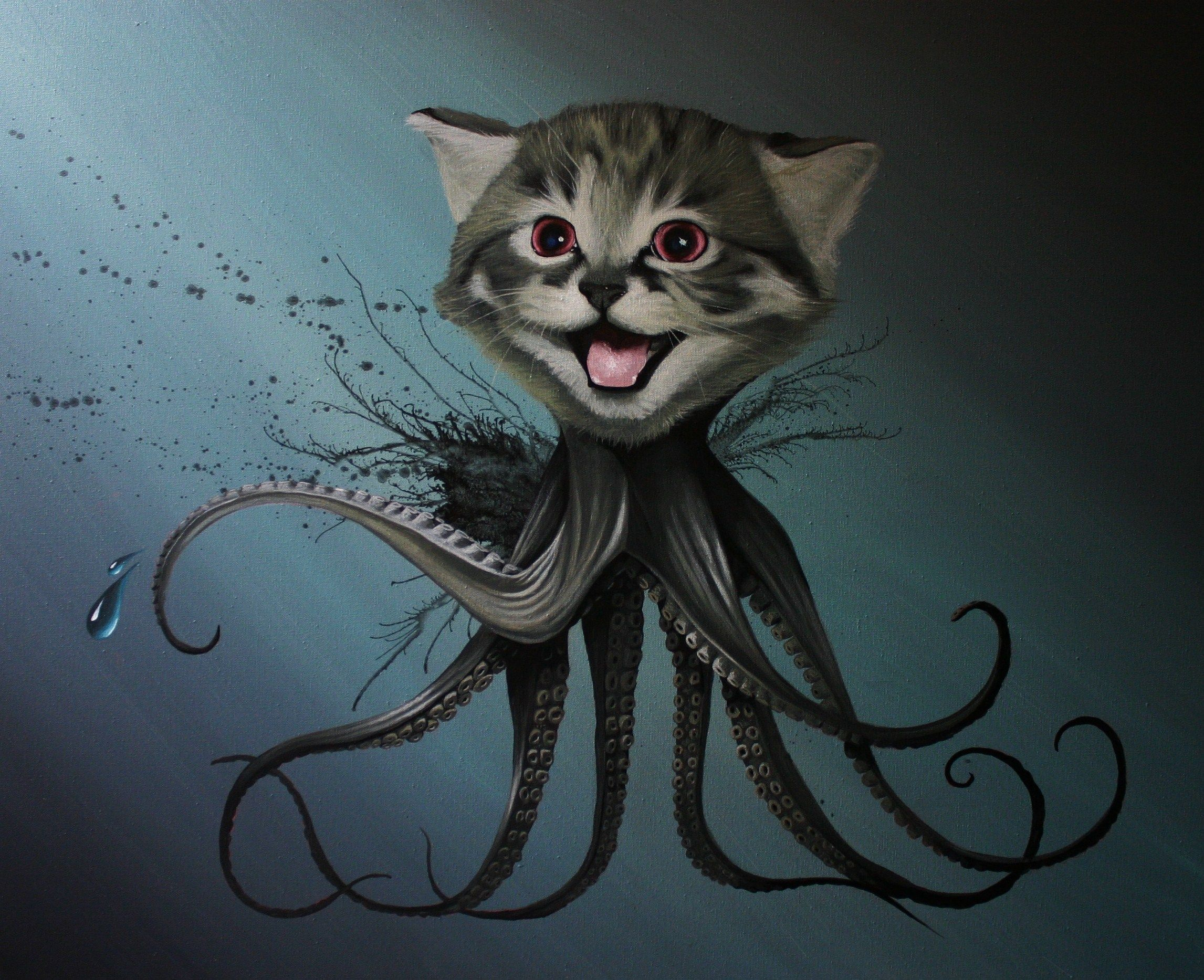 Robert Github Octocat Cute Paintings Tentacle Art Nerd Art