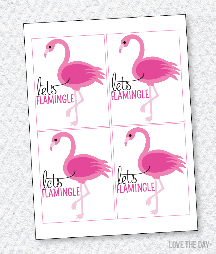 picture relating to Flamingo Printable named Cost-free Printable Flamingo Social gathering Favors Absolutely free Printables