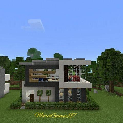 Casa Moderna Minecraft Modern House Minecraft Minecraft