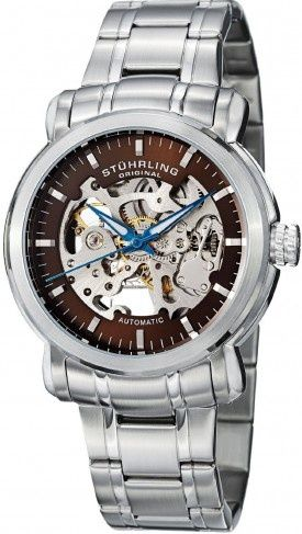 fc2a1f0011e Stuhrling Original 387.331159 Classic Delphi Antium Automatic Skeleton  Watch For Men Pulseira De Relógio