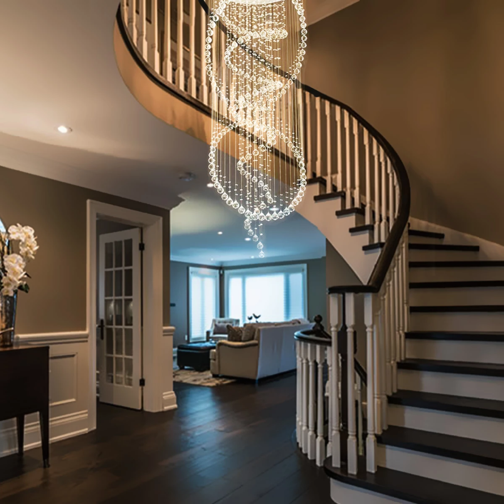 Dining Room Trends 2019 Dos And Don Ts For A Spectacular: Three Circle Spiral Raindrop Chandelier Ceiling Lights In