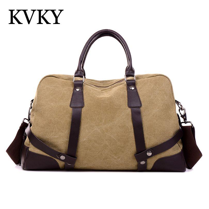 fa1e171ec1 2017 High Quality shoulder Men s Travel Bags Vintage Men Canvas Bag big handbag  Duffle Bag bolsa