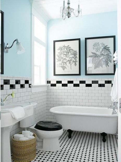 Love This Color With The Black And White Tile Tiffany Color