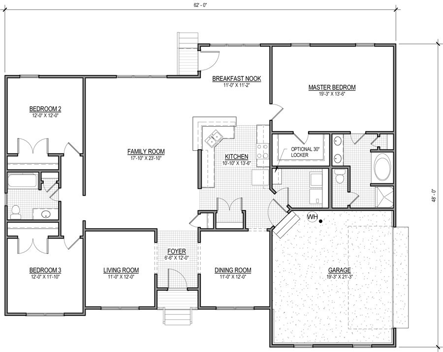 The Winchester is a ranch-style home with 3 bedrooms, 2