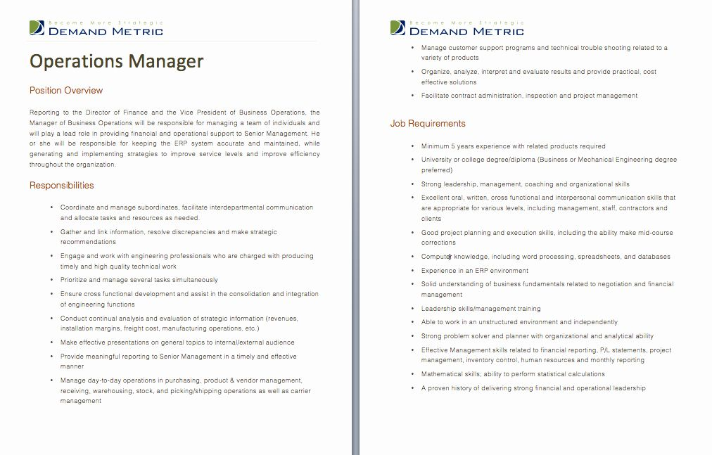 20 Project Manager Job Description Resume in 2020