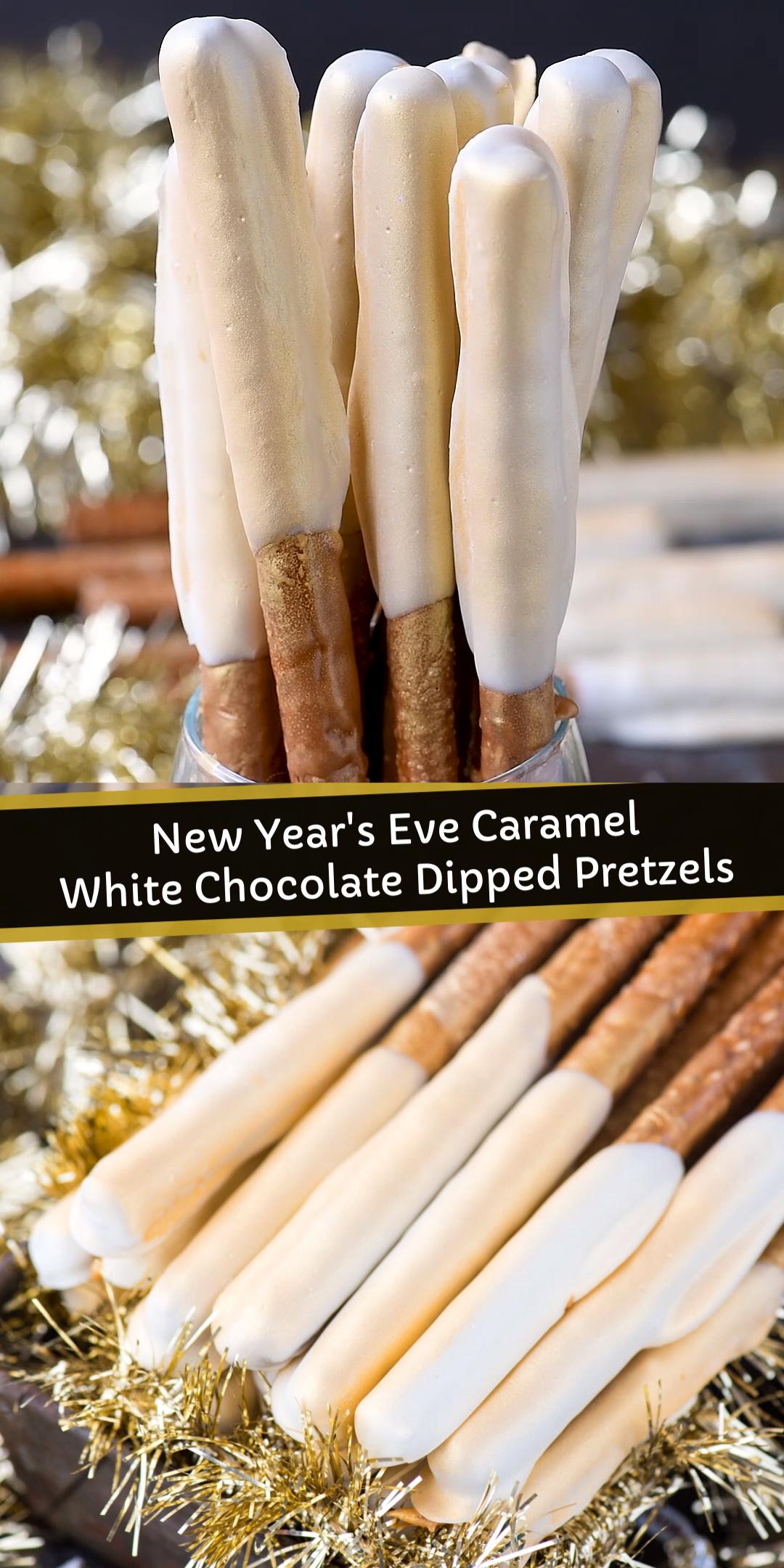 New Year's Eve Pretzel Rods