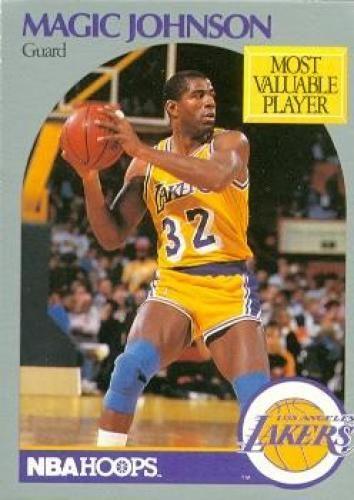 Magic Johnson Basketball Card (Los Angeles Lakers) 1990 Hoops  157 ... 03f96099e