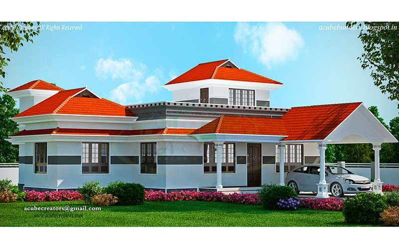 Modern Keralahome 2150 Square Feet Ground Floor 1565 Sq Ft Porch Sit Out Living Dining Common Toilet Bedr Kerala House Design New House Plans Kerala Houses