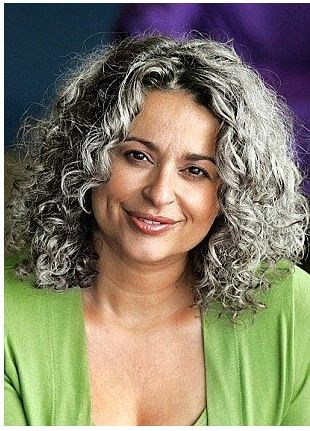 Curly grey hair … | Silver S…