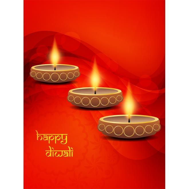 Happy diwali typography logo with traditional glowing diya on happy diwali typography logo with traditional glowing diya on abstract red background poster and greeting card m4hsunfo