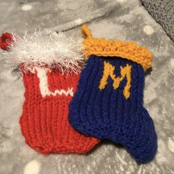 Little Christmas stocking for beginners Knitting pattern ...