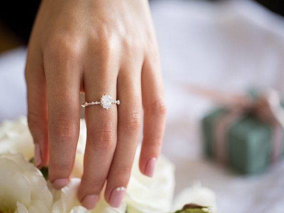 Photo of Victorian Engagement Ring, Edwardian Engagement Ring, Art Deco Engagement Ring, …