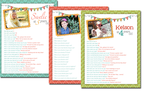 Free Birthday Questionnaire Printables - Every year interview your kids and archive their funny answers.