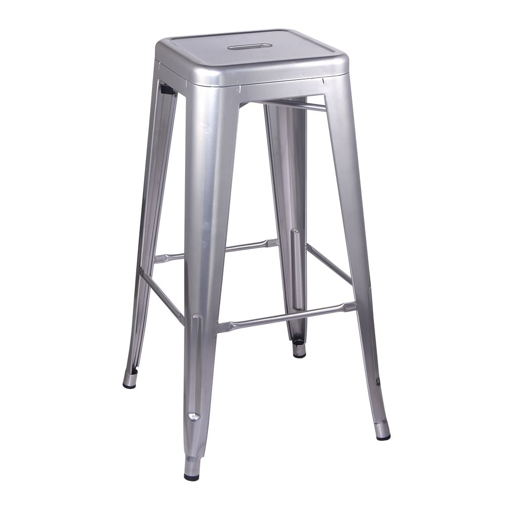 Details About 30 Backless Silver Metal Bar Stool Kitchen Counter