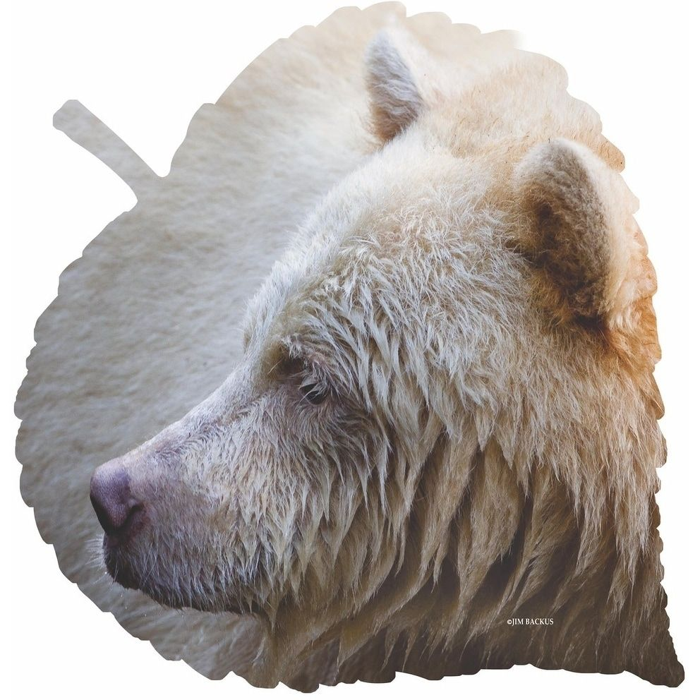 Next innovations spirit bear on large aspen leaf steel wall art