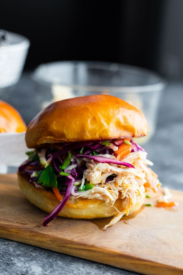Honey Lime Shredded Chicken Sandwiches | Sweet Peas & Saffron