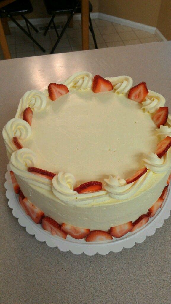 Strawberry Bavarian cream cake | My own creations | Pinterest | Cake ...