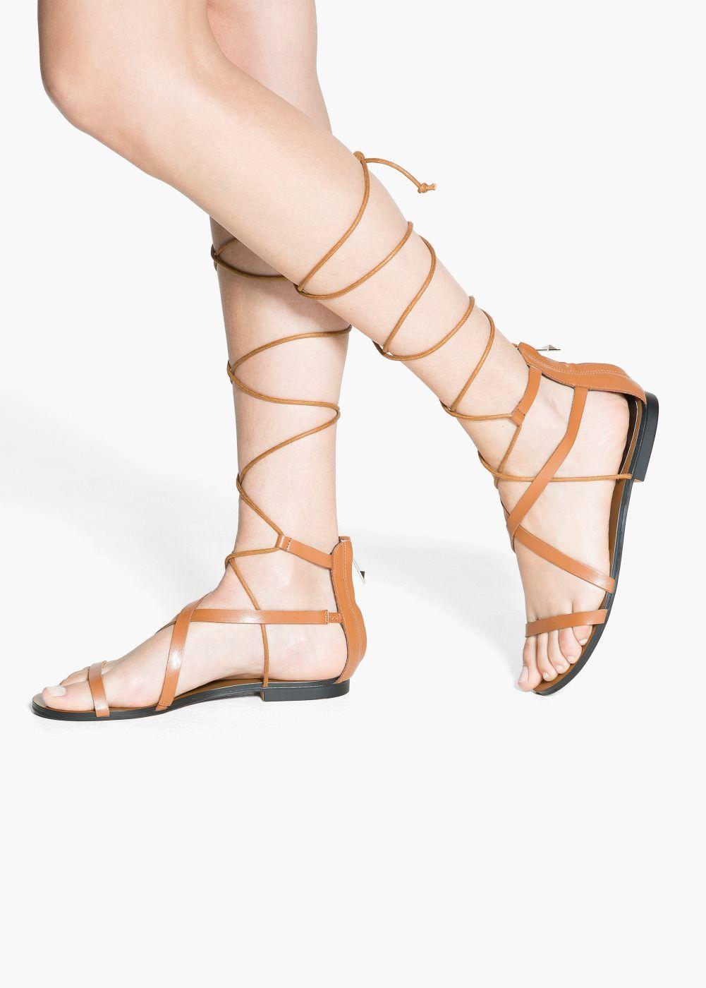 6db51435a1 Sandalia tiras cordón - Mujer