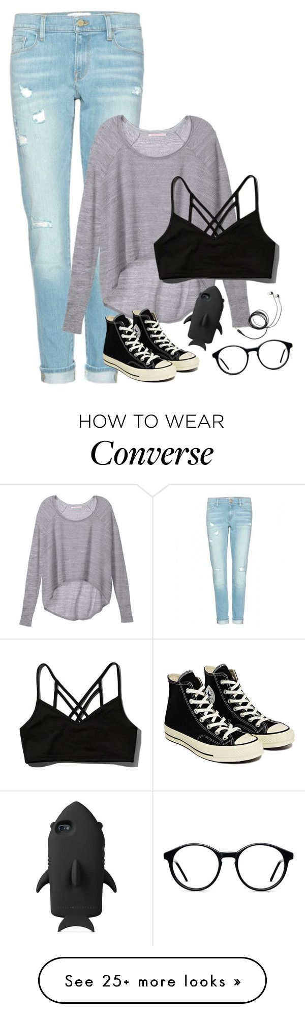 (  by unicornforeva on Polyvore featuring Frame Denim, Victoria's Secret, Abercrombie & Fitch, Converse and STELLA McCARTNEY is part of Outfits -