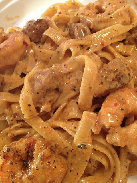 recipe: shrimp fettuccine with velveeta and cream of mushroom [30]