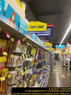 Home shaped overhead product category sign   Home Melbourne Pharmaceutical Retail Sign