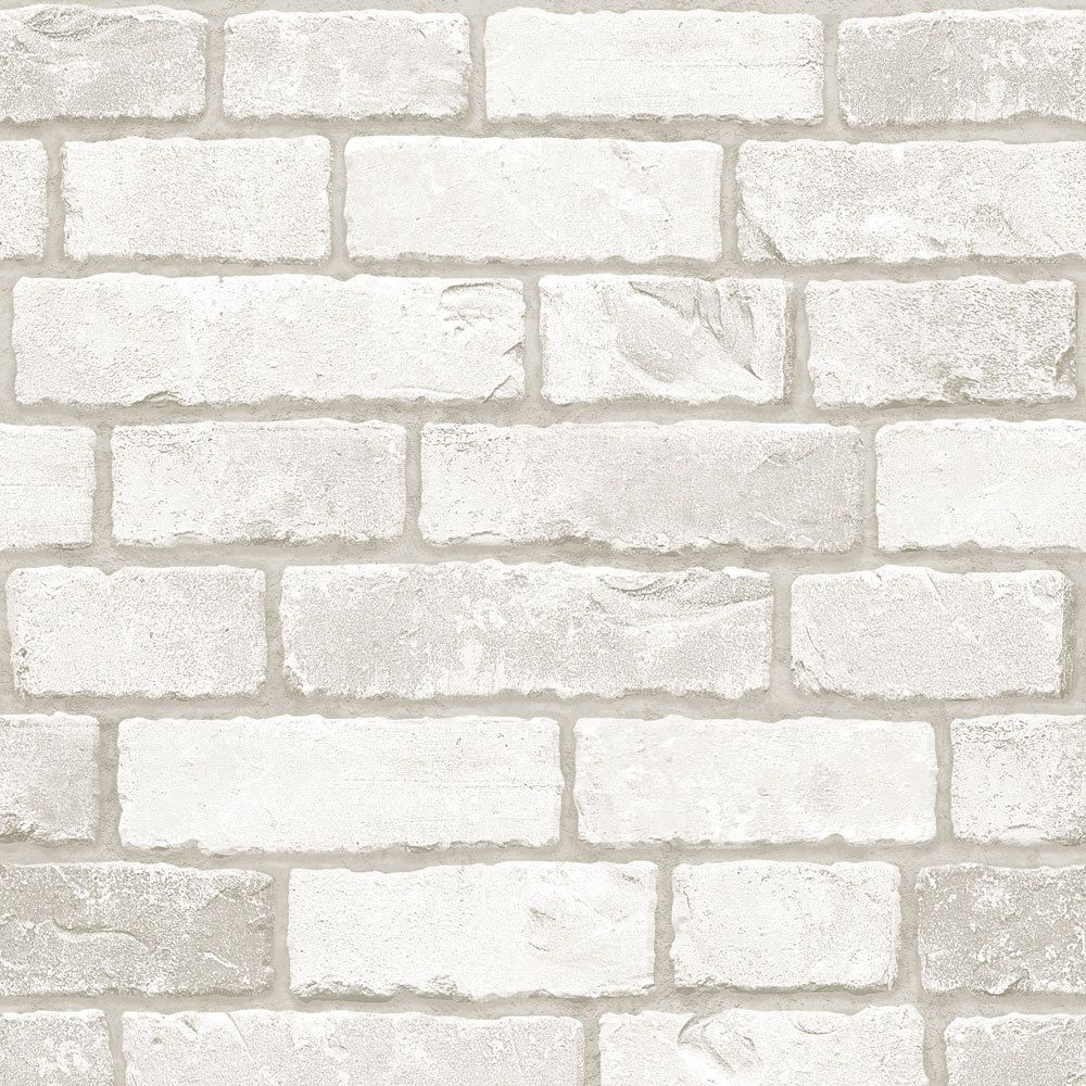 Grey White Brick Look Contact Prepasted Paper Wallcovering Home Decor Wallpaper Ebay Brick Patterns White Brick Diy Interior Decor
