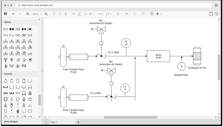 Piping And Instrumentation Diagram P Id Software Piping And