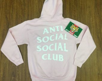 16f1bcc713f4 AntiSocial Social Club Hoodie in Pink