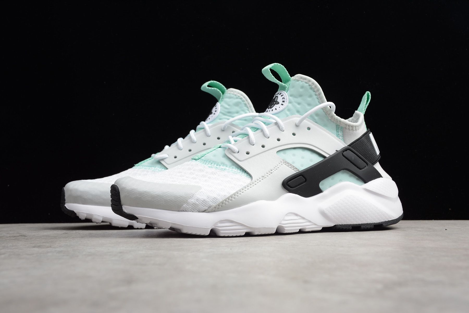 21b0ff08377 2018 Nike Air Huarache Run Ultra Pure Platinum Black-Igloo 819685 ...