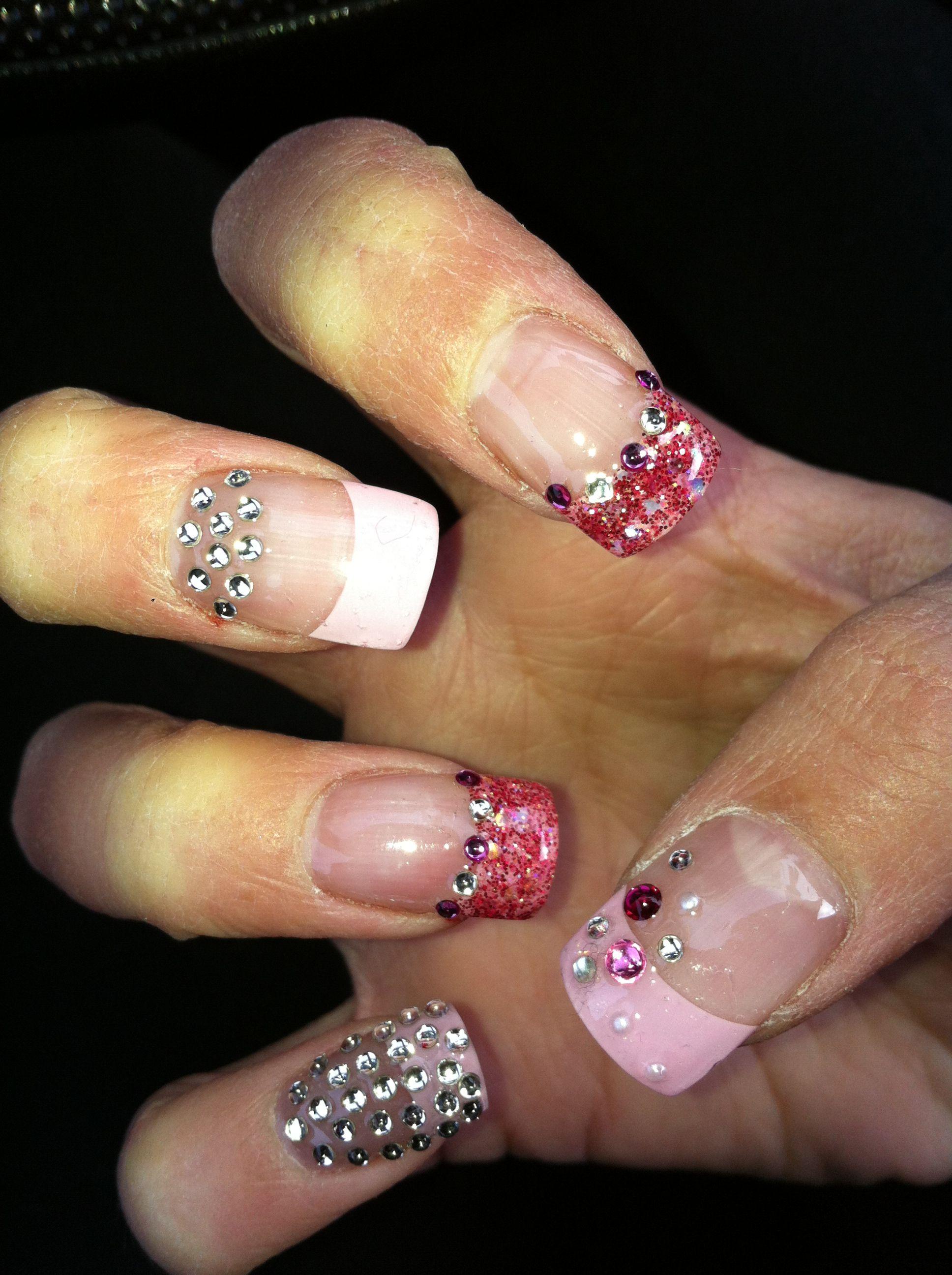 diamond nail | Nails | Pinterest | Diamond nails and Mani pedi