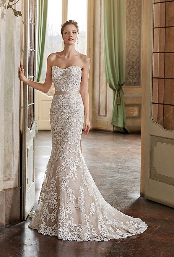 Eddy k style ek1118 sleeveless fit n flare with square for Fit n flare lace wedding dress