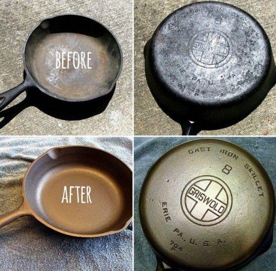 reseason cast iron cookware like a pro video tutorial remove rust cast iron cookware and cookware. Black Bedroom Furniture Sets. Home Design Ideas