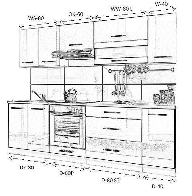 Details zu moderne küchenzeile möbel maßgerecht hochglanz küchenmöbel küchenset küchenblock ebay