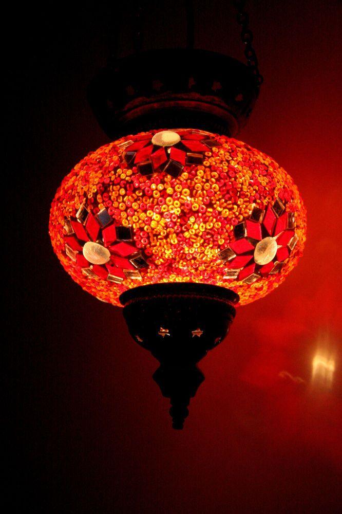 LARGE TURKISH MOROCCAN MOSAIC HANGING LAMP SHADE PENDANT LANTERN XMAS GIFT.  Outdoor String LightingString ...