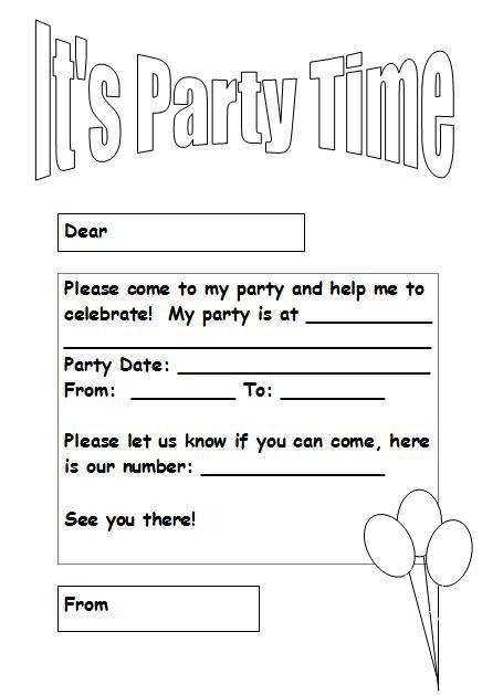 Free Black And White Printable Birthday Invitations