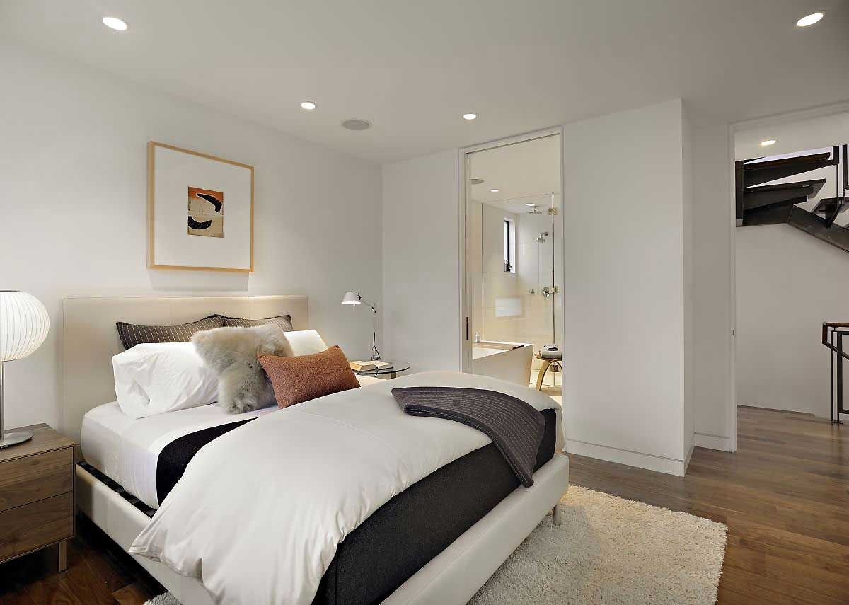 Bernal Heights Residence By Sb Architects Bernal Heights House By Sb Architects Modern White Cozy Bedroom
