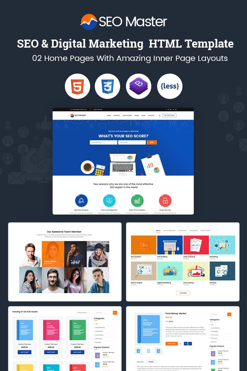 SEO Master - SEO And Digital Marketing Agency Website Template Big ...