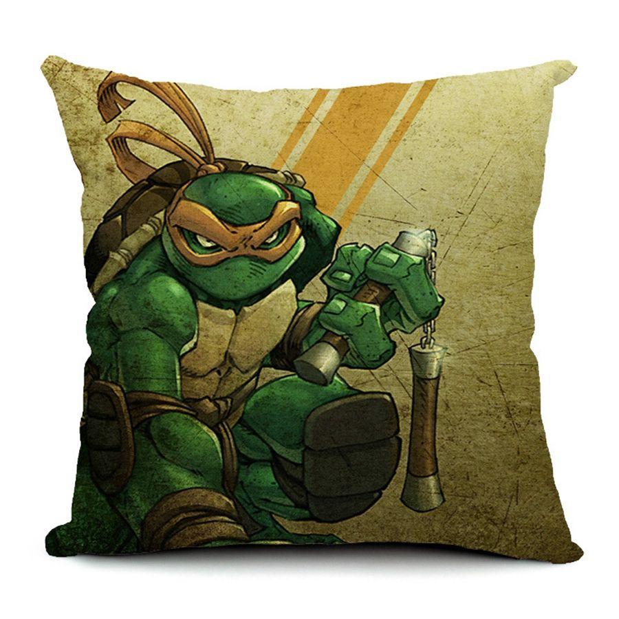 Hot sale pillow covers ninja turtle topic pattern new fashion