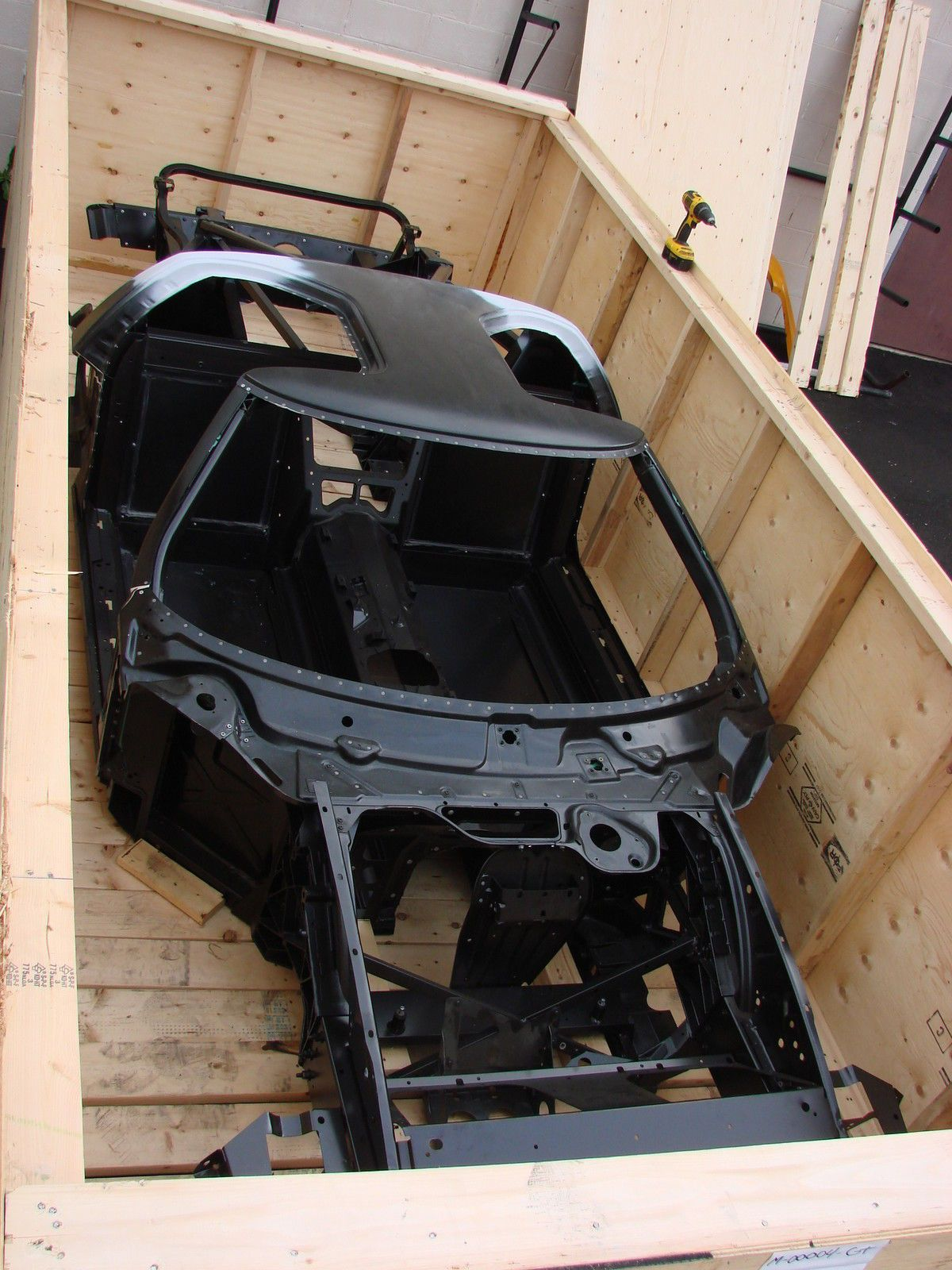 Mind Blowing Ebay Find A  Ford Gt Factory Modified Race Chassis In A Crate