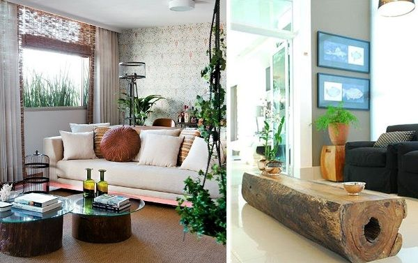 The tree trunk table ♥   Future Home   Pinterest   Tree trunk table