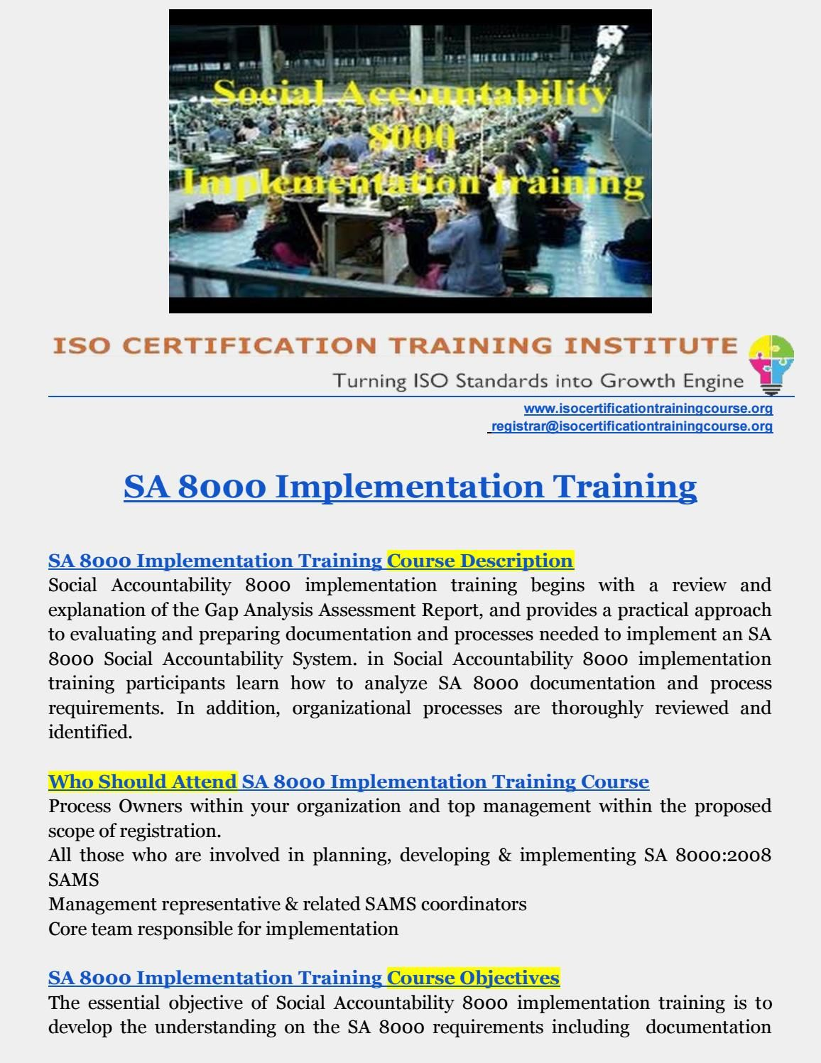 Pin On Iso Training Institute