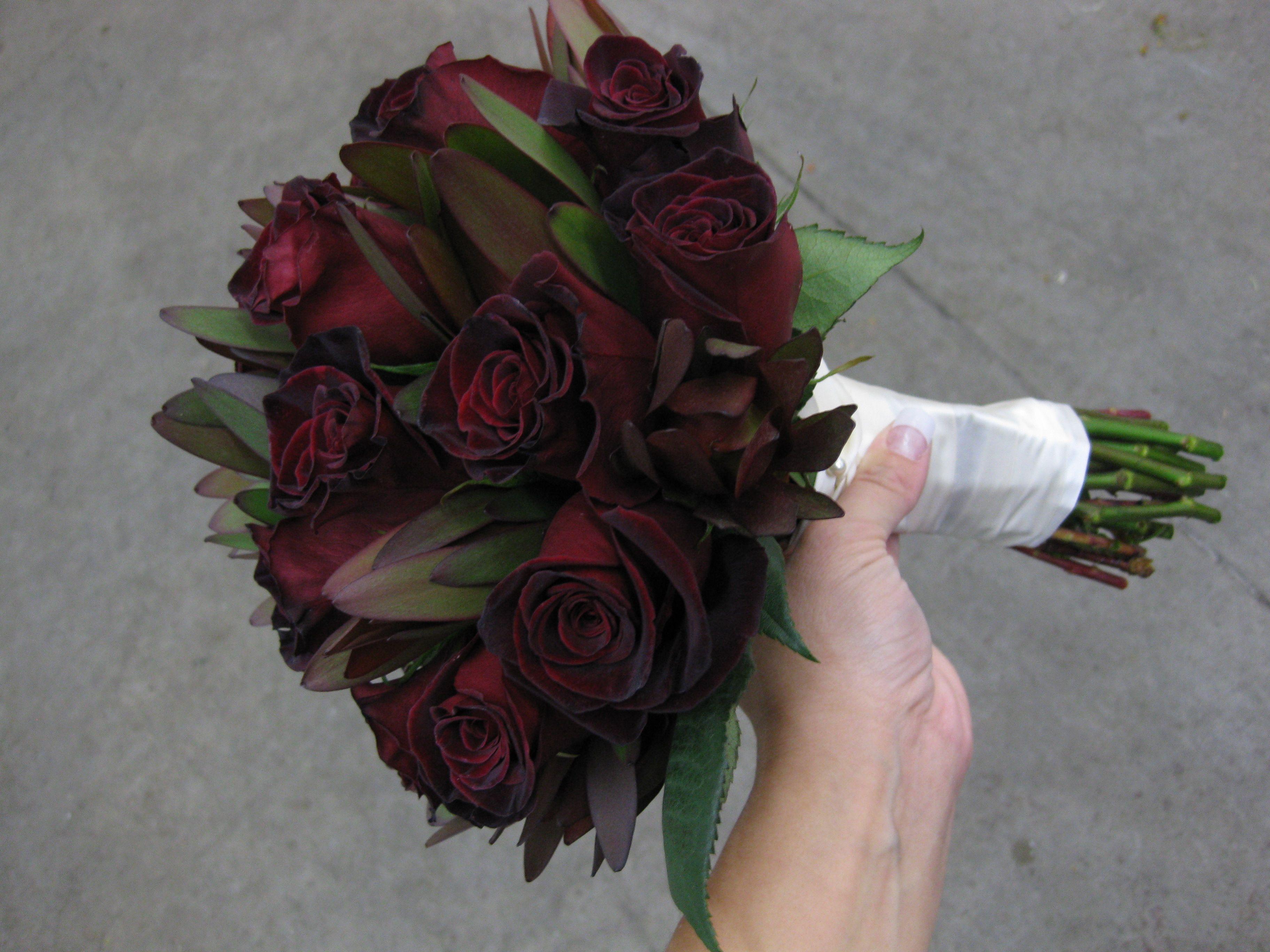 Google Image Result For Http Stadiumflowers Files WordPress 2010 10 Black Baccara Rose Side View Jpg Wedding Ideas Pinterest Bride Bouquets