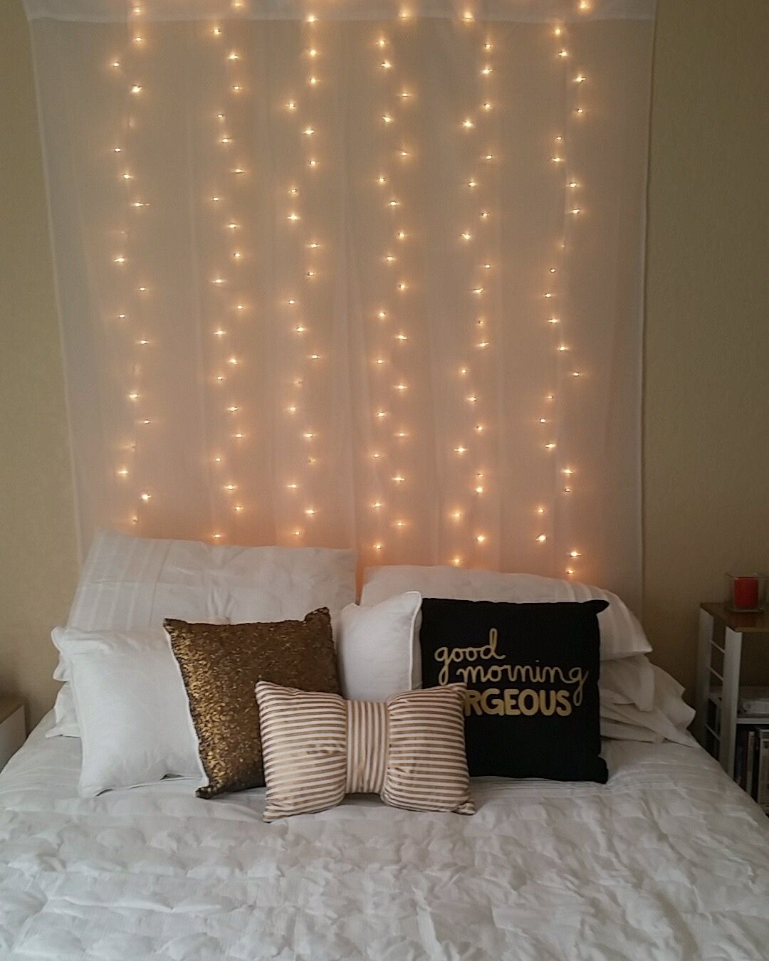 Target Bedding String Lights Bow Gold Bedroom White Black