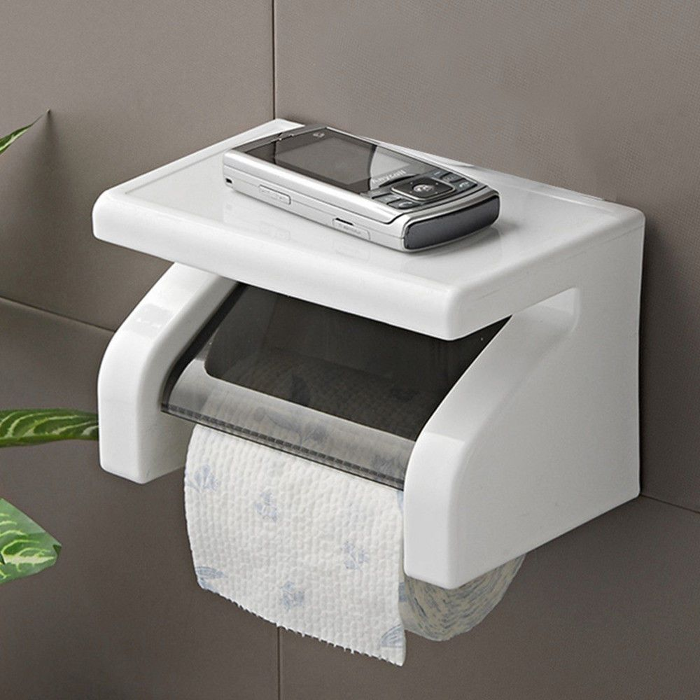 Toilet Paper Smartphone Holder Roller Tissue Roll Stand Box Cell Phone Rack U Toilet Paper Holder Toilet Paper Roll Holder Toilet Roll Holder Wall Mounted